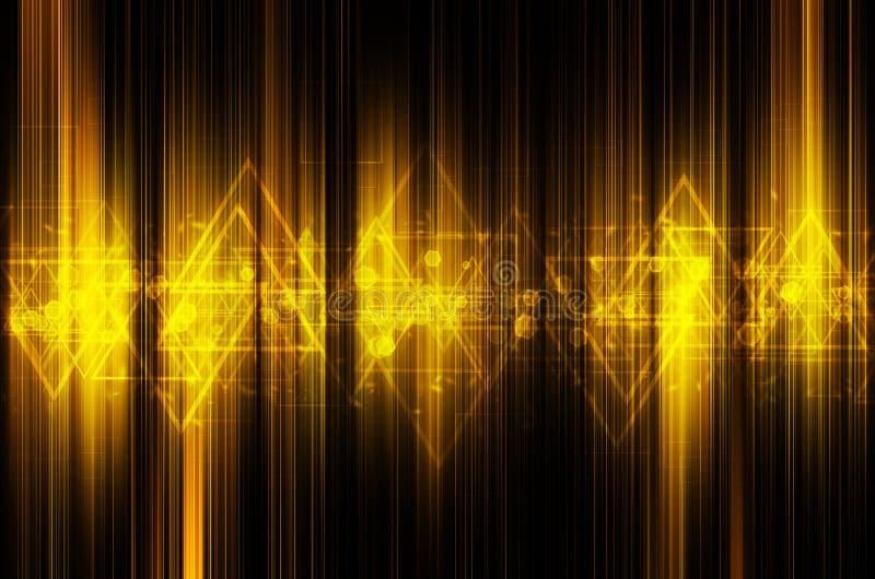 Download Abstrakcjonistyczny żółty Techniki Tło Ilustracji - Ilustracja złożonej z element, jaskrawy: 53781089