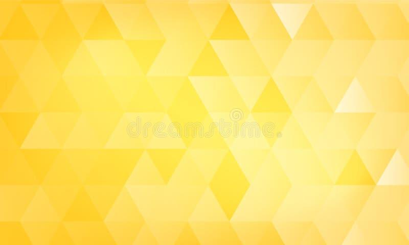 Abstrakcjonistyczny żółty triangulacyjny tło royalty ilustracja