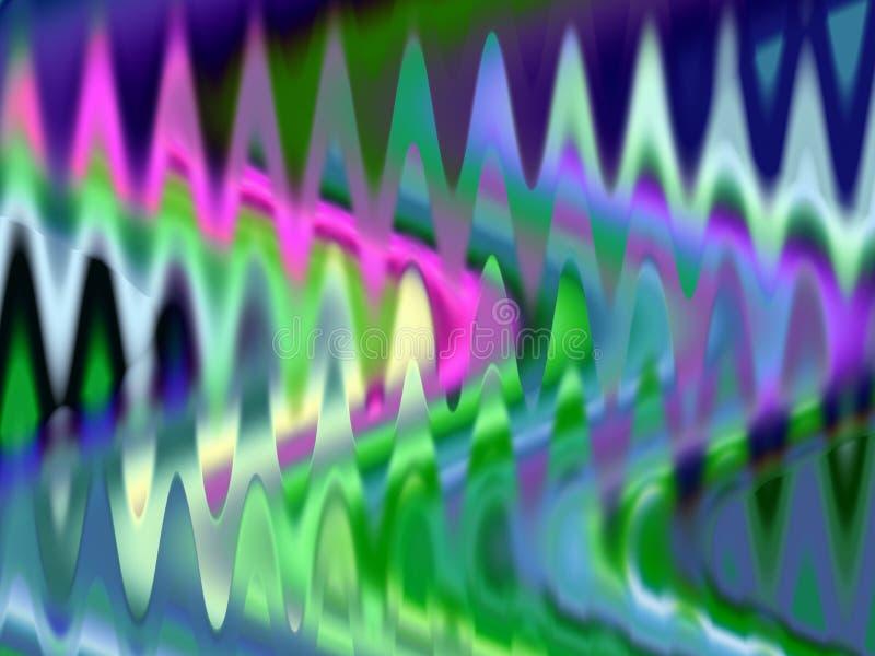 Abstrakcjonistyczny żywy błękit menchii lśnienie zaświeca geometrie, abstrakcjonistyczne grafika royalty ilustracja