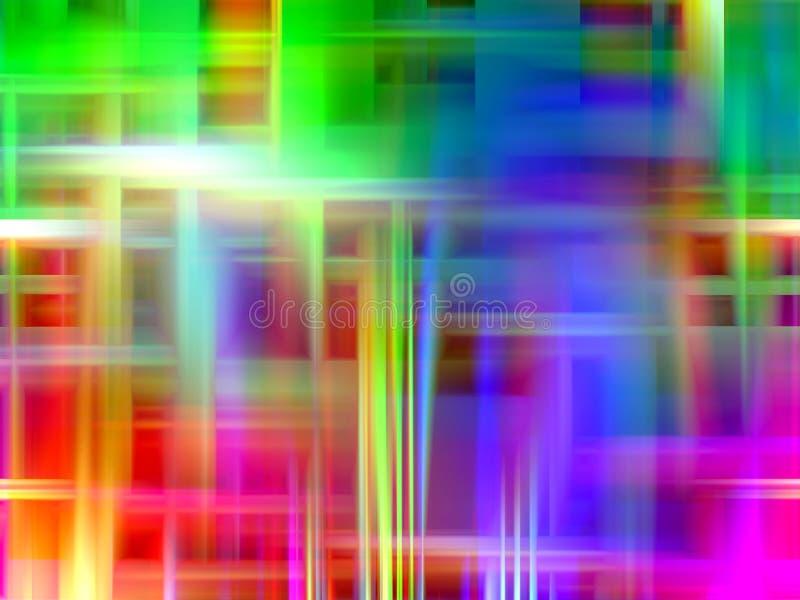 Abstrakcjonistyczny żywy lśnienie zaświeca geometrie, abstrakcjonistyczne grafika ilustracja wektor