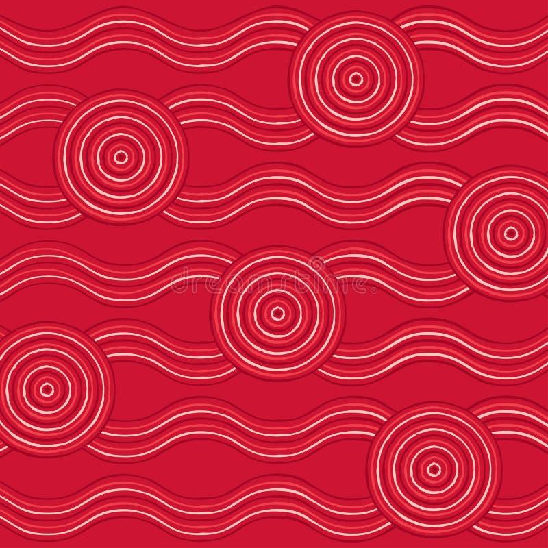 Abstrakcjonistyczny aborygen linii obraz ilustracji
