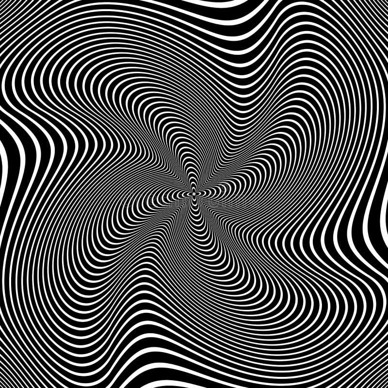 Abstrakcjonistyczny abstrakcjonistycznej sztuki projekt Złudzenie kłębowisko ruch ilustracja wektor