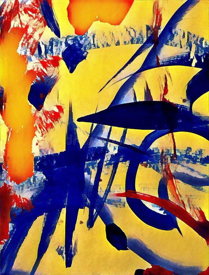 Abstrakcjonistyczny acrilic obraz ilustracja wektor