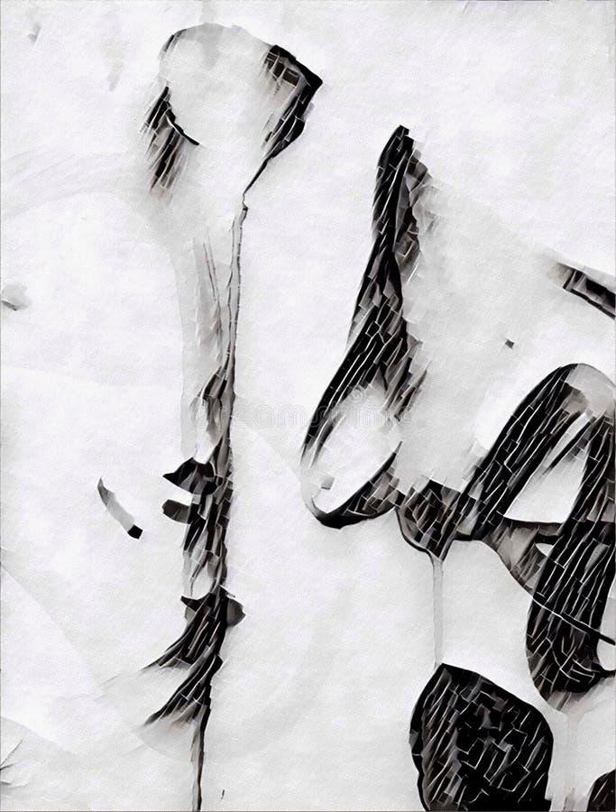 Abstrakcjonistyczny acrilic obraz ilustracji