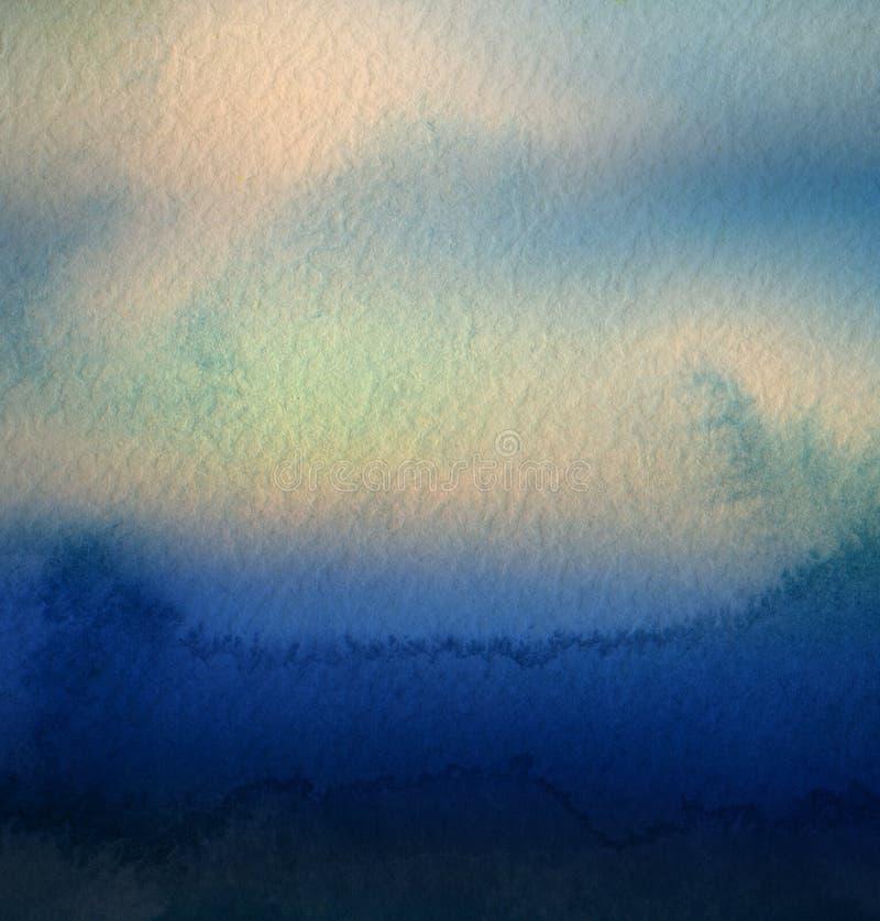 Abstrakcjonistyczny akrylowy i akwarela malujący tło ilustracji