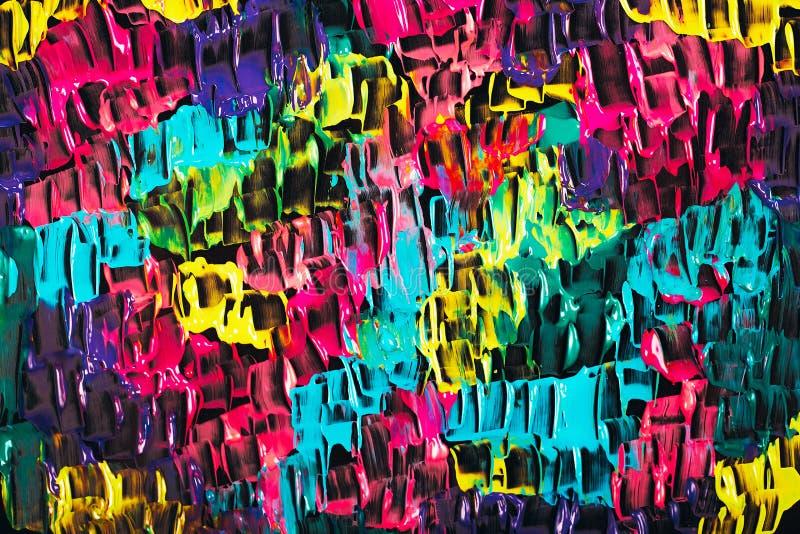 Abstrakcjonistyczny akrylowy jaskrawy tło zdjęcie royalty free