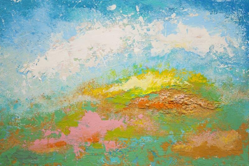 Abstrakcjonistyczny akrylowy obraz obraz stock
