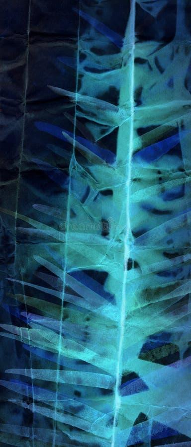 Abstrakcjonistyczny akwarela obraz na stonowanym papierze obrazy stock