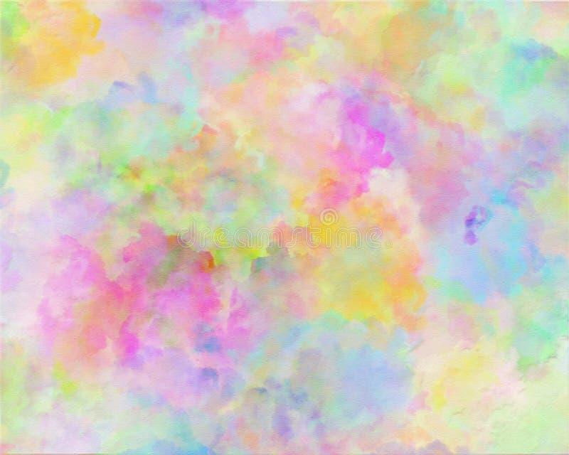 Abstrakcjonistyczny akwareli aquarelle, ręka rysująca kolorowa kształt sztuki farba chmurnieje ilustracja wektor