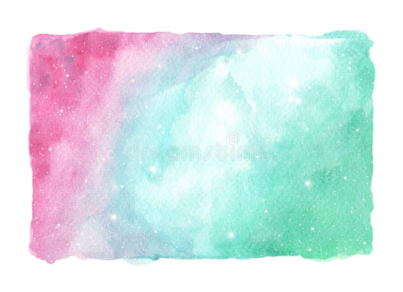Abstrakcjonistyczny akwareli galaxy nieba tło ilustracji