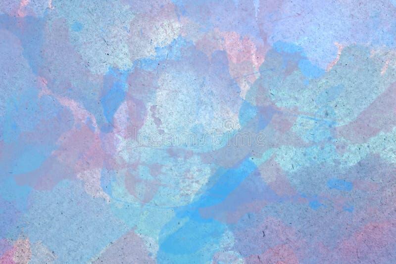 Abstrakcjonistyczny akwareli tło z Pastelowymi kolorami royalty ilustracja