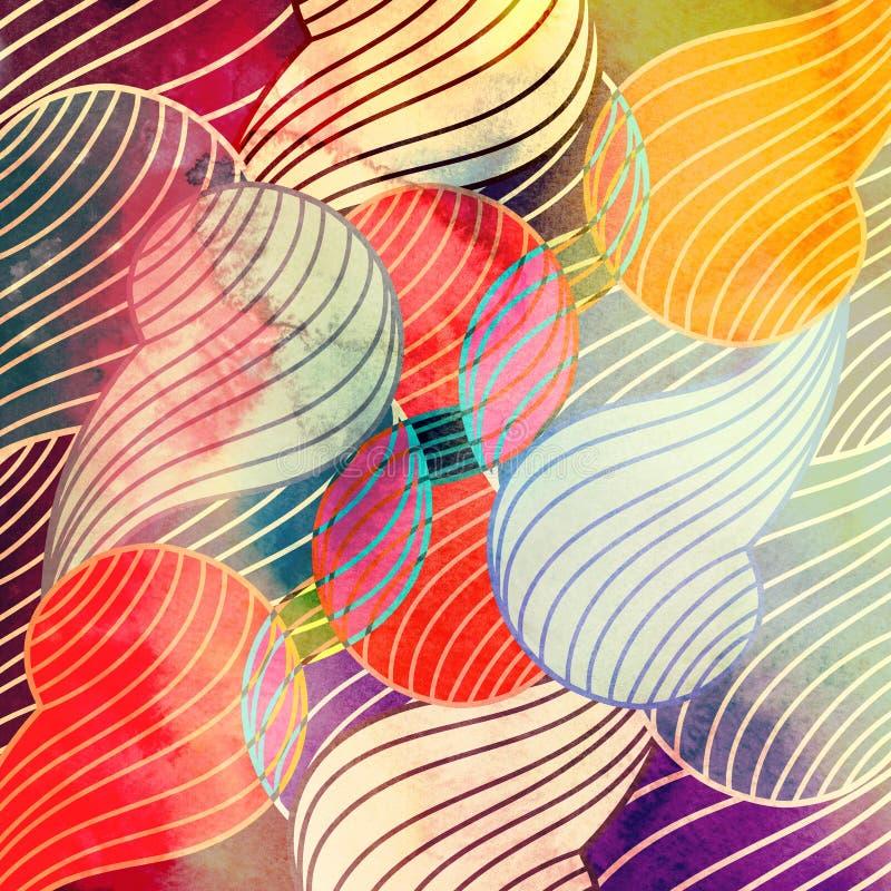Abstrakcjonistyczny akwareli tło ilustracja wektor