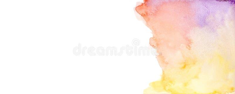 Abstrakcjonistyczny akwareli tło, Kolorowa akwarela szczotkujący malujący abstrakcjonistyczni tła, tło, projekta i dekoracji, prz royalty ilustracja