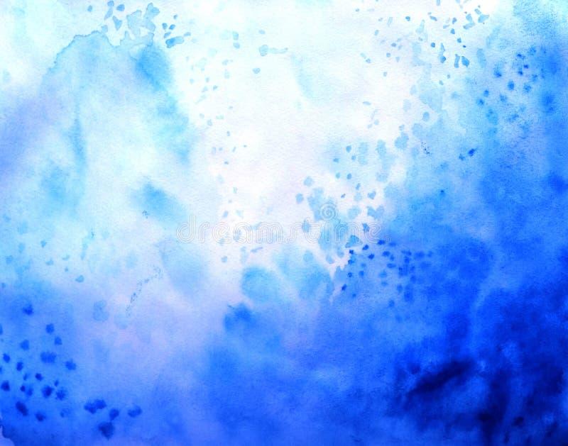 Abstrakcjonistyczny akwareli tło, tapetowy gradientowy kolor, błękitny chmurny royalty ilustracja