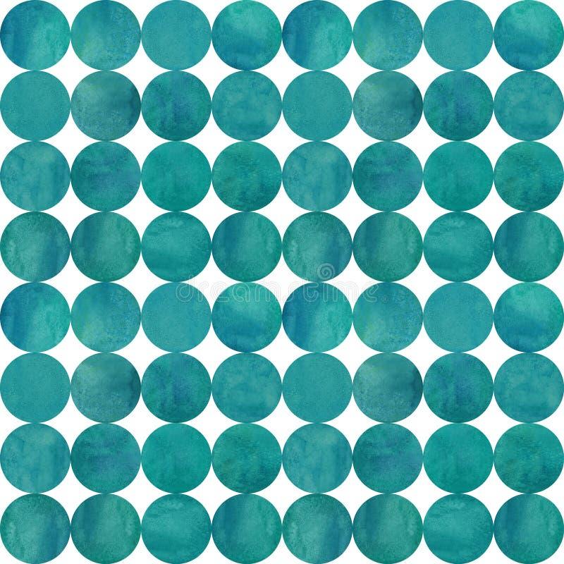 Abstrakcjonistyczny akwareli tło z kolorowymi okręgami na bielu fotografia stock