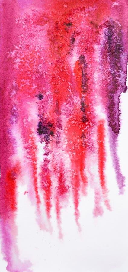 Abstrakcjonistyczny akwareli tło z solankowym skutkiem ilustracji