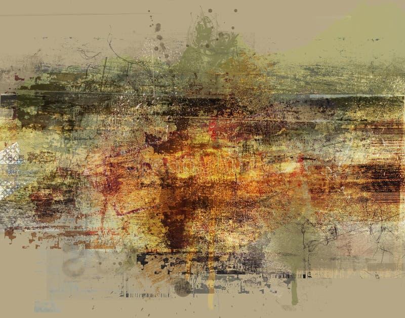 abstrakcjonistyczny antykwarski tło royalty ilustracja