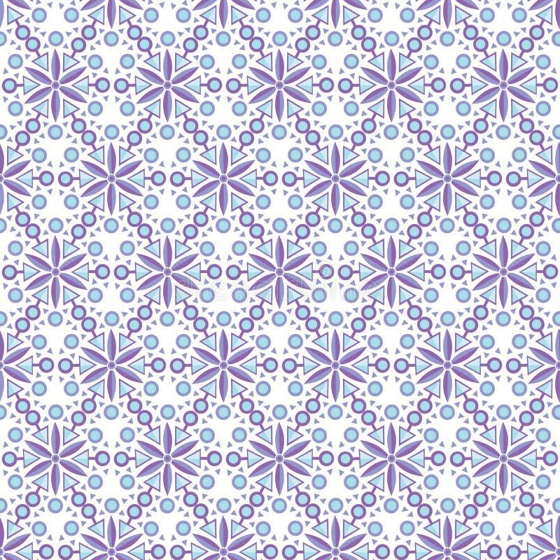 Abstrakcjonistyczny arabski islamski bezszwowy geometryczny promieniowy wzór wektor royalty ilustracja