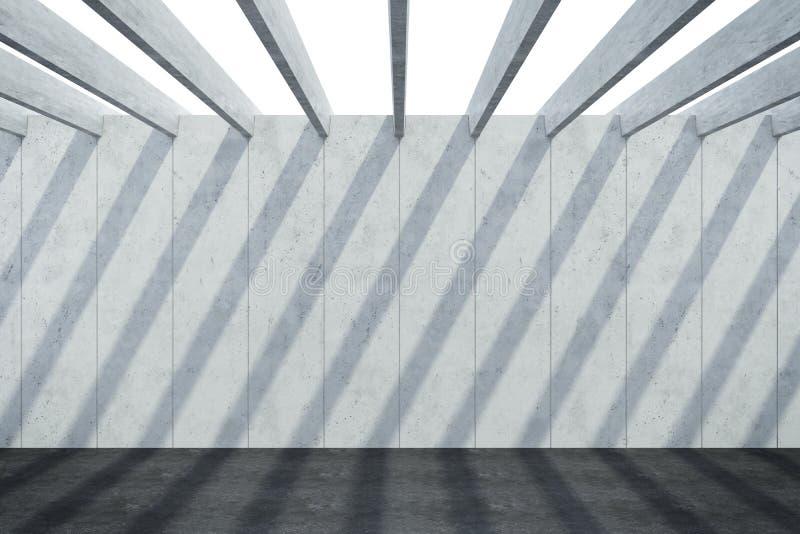 Abstrakcjonistyczny architektoniczny betonowy skład fotografia stock