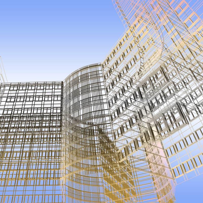 abstrakcjonistyczny architektoniczny tło ilustracji