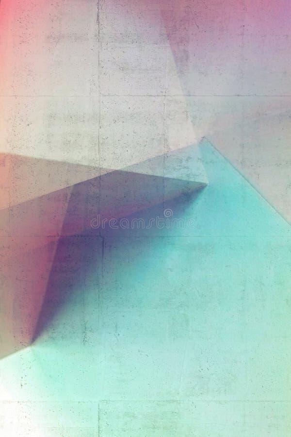 Abstrakcjonistyczny architektoniczny wz?r, kolorowa sztuka obraz royalty free
