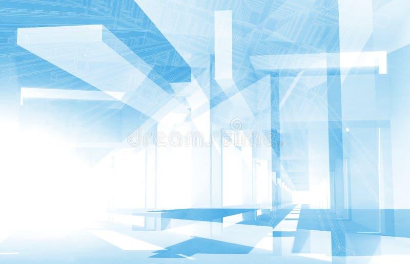 Abstrakcjonistyczny architektury 3d tło ilustracja wektor