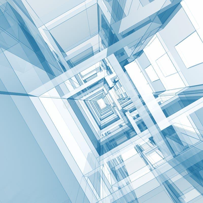 Abstrakcjonistyczny architektury tło ilustracji