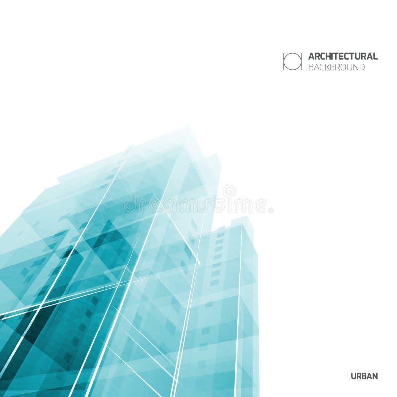 Abstrakcjonistyczny architektury tło, układ broszurki szablon, abstrakcjonistyczny architektura skład geometryczny wzór royalty ilustracja