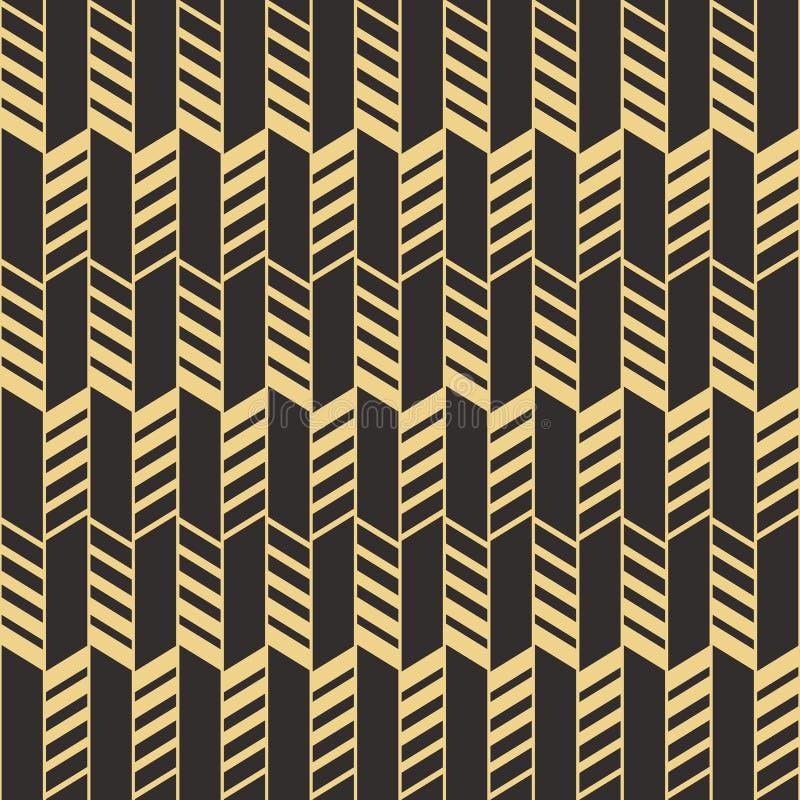 Abstrakcjonistyczny art deco bezszwowy pattern_2 ilustracji
