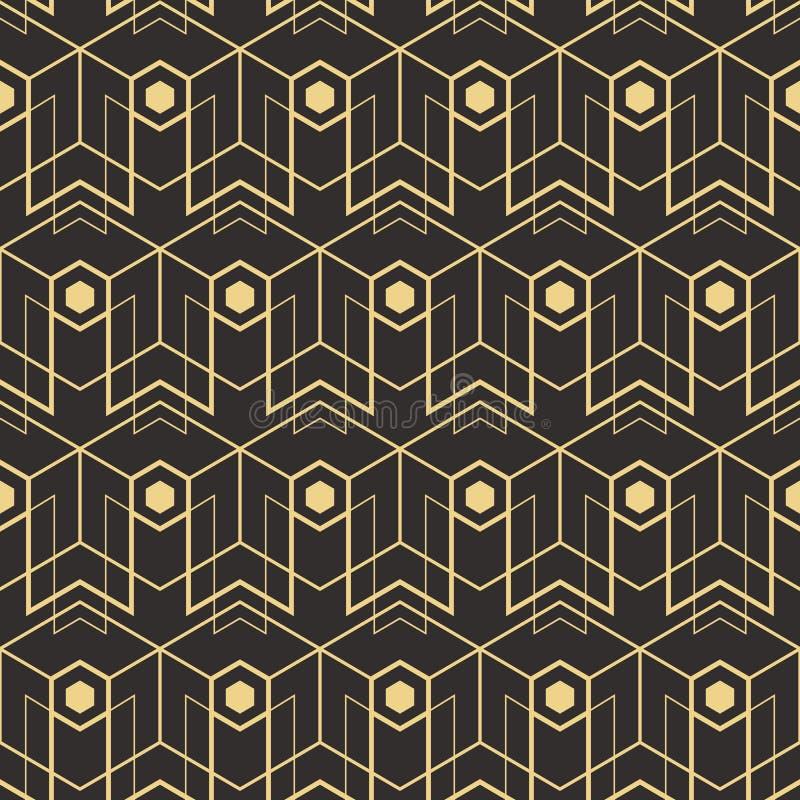 Abstrakcjonistyczny art deco bezszwowy pattern_1 ilustracja wektor