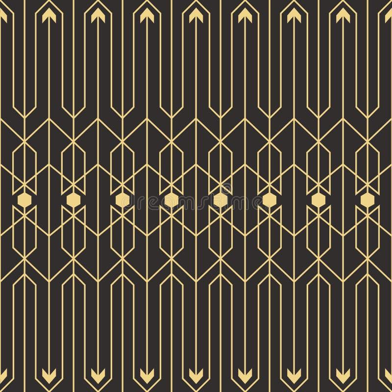 Abstrakcjonistyczny art deco bezszwowy pattern_1 royalty ilustracja