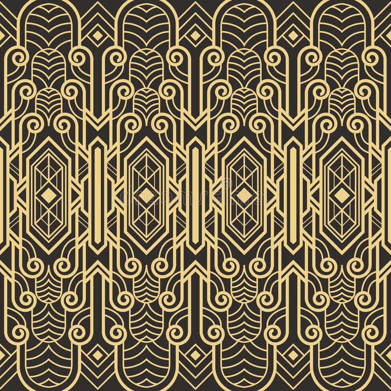 Abstrakcjonistyczny art deco bezszwowy wzór ilustracji