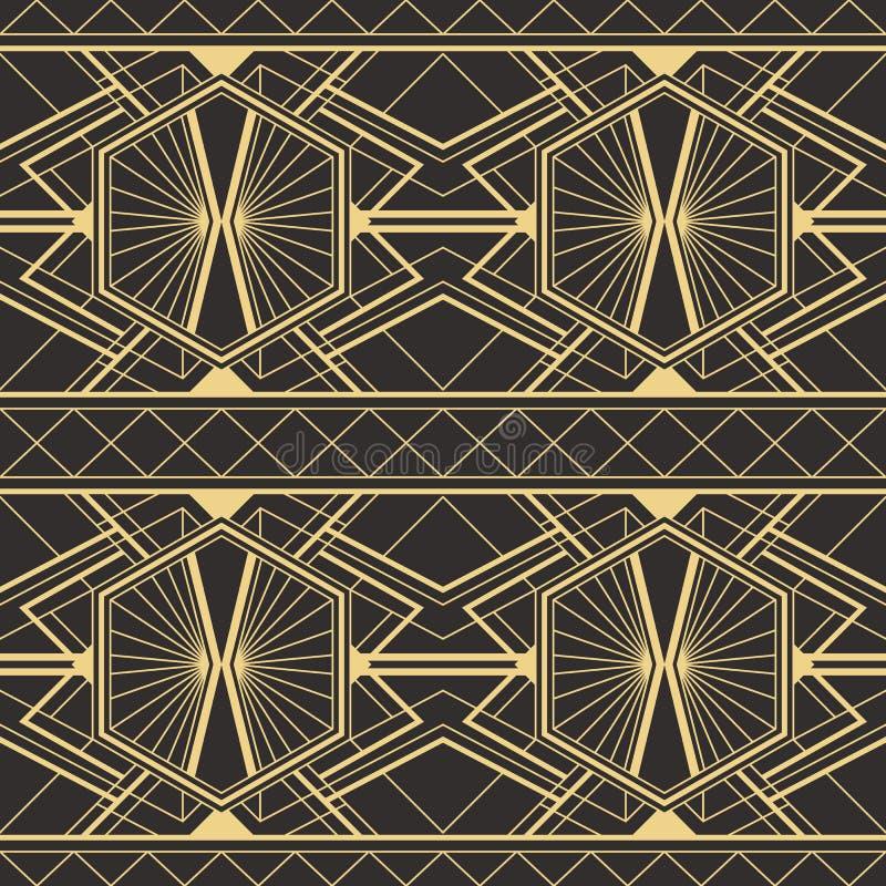 Abstrakcjonistyczny art deco płytek nowożytny wzór ilustracja wektor