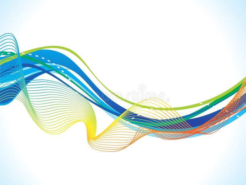 Abstrakcjonistyczny artystyczny błękit fala tło ilustracja wektor