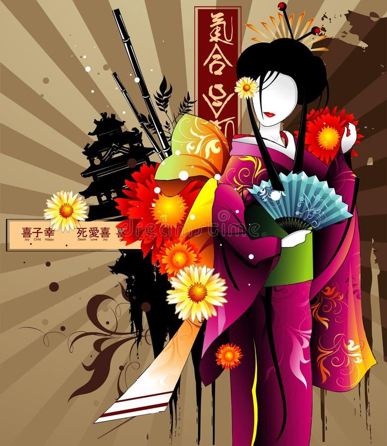abstrakcjonistyczny Asia ilustracja wektor