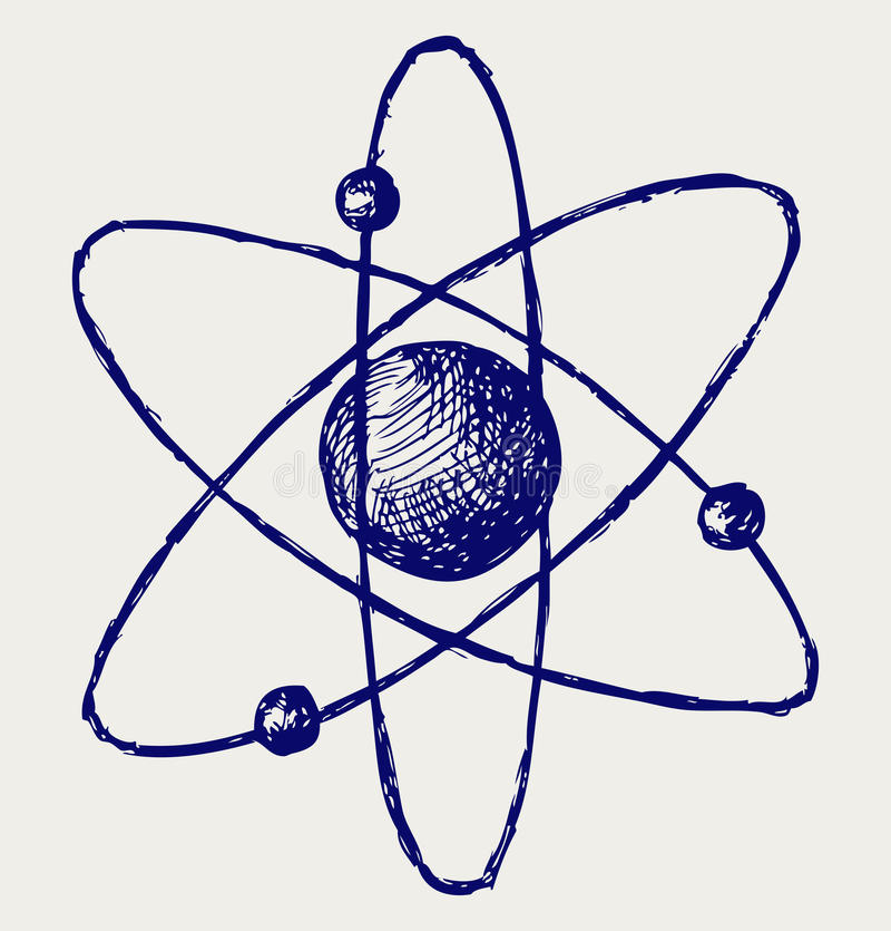 Abstrakcjonistyczny atom royalty ilustracja