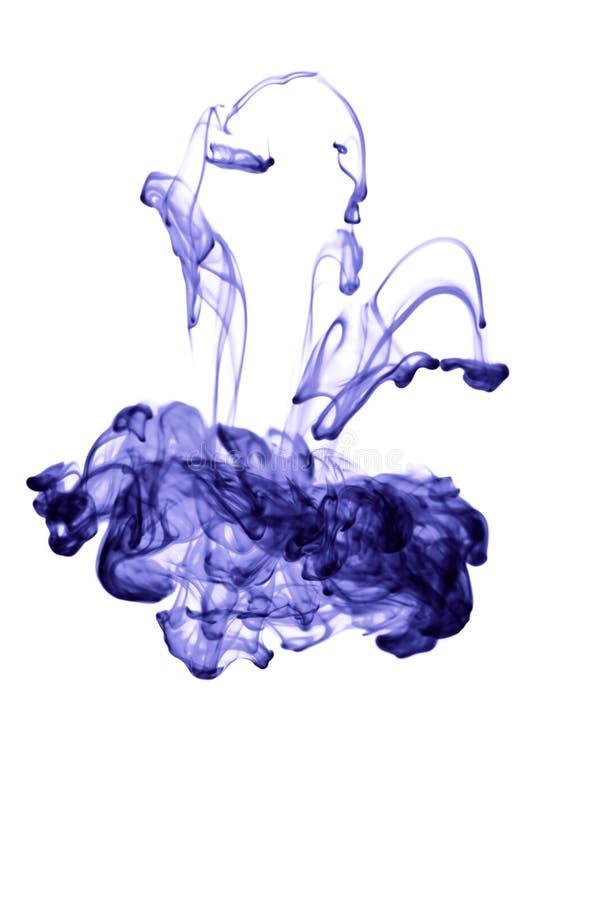 abstrakcjonistyczny atrament odizolowywająca woda zdjęcia royalty free