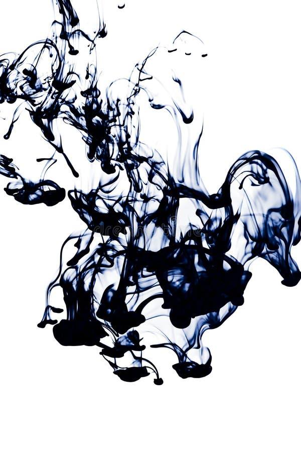 abstrakcjonistyczny atrament odizolowywająca woda fotografia royalty free