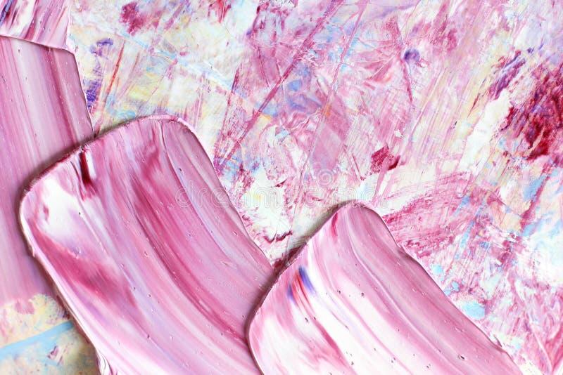 Abstrakcjonistyczny atristic nafciany tło Oleje na kanwie fotografia royalty free