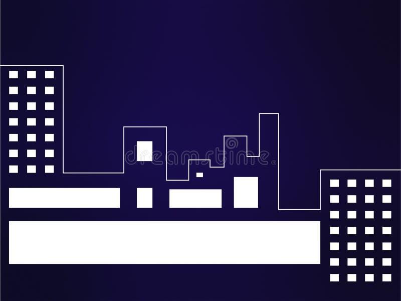 Abstrakcjonistyczny błękitny tło z sity linia horyzontu Wizytówka stylu projekt ilustracja wektor