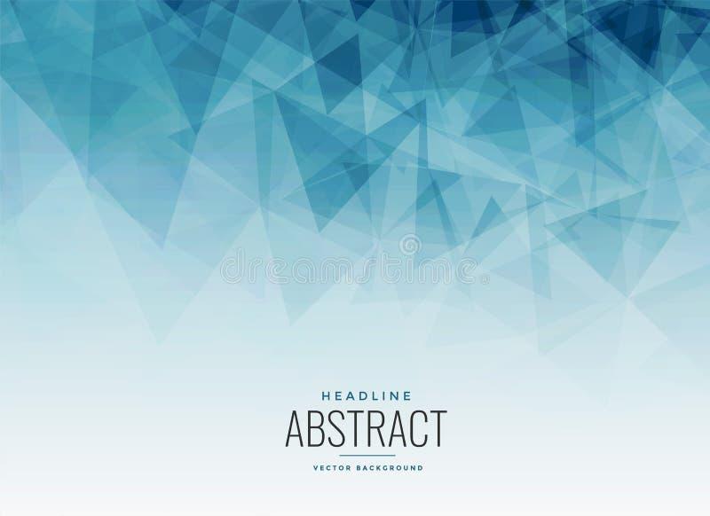 Abstrakcjonistyczny błękitny trójboka fractal tło ilustracji
