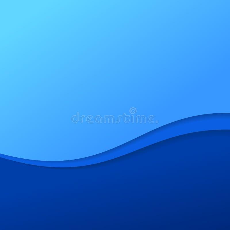 Abstrakcjonistyczny błękit fala tło z lampasami royalty ilustracja
