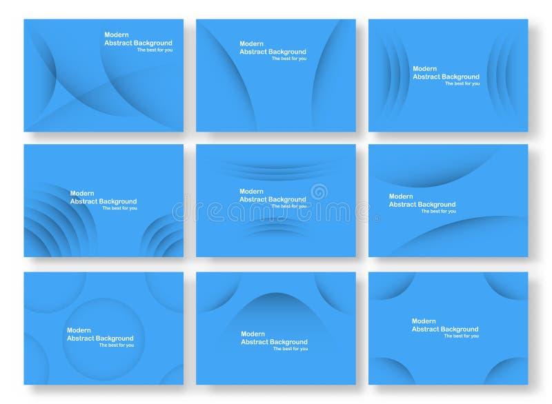 Abstrakcjonistyczny błękit krzywy tło z kopii przestrzenią dla białego teksta S ilustracji