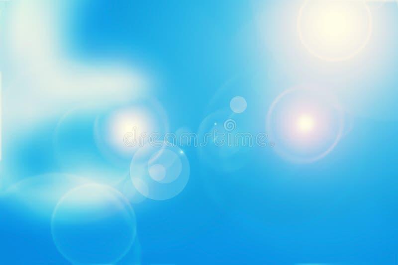 Abstrakcjonistyczny błękit z racy światłem pożytecznie dla technologii, szablon royalty ilustracja