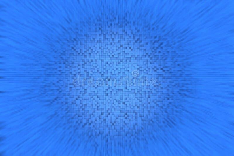 Abstrakcjonistyczny błękita 3d sześcianu tła projekta Geometryczny Mały wzór Z Zamazanym skutkiem Wokoło ilustracja wektor