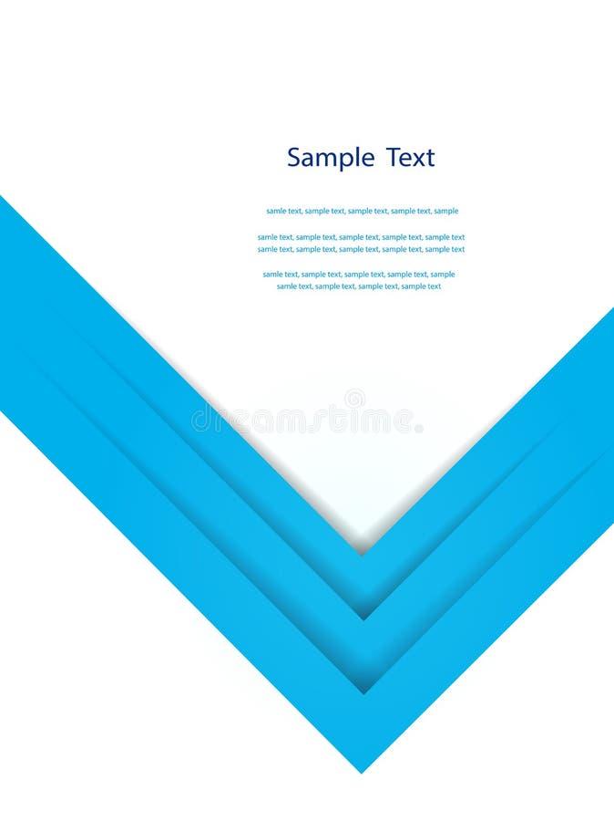 Abstrakcjonistyczny błękita raportu okładkowego szablonu projekt ilustracji