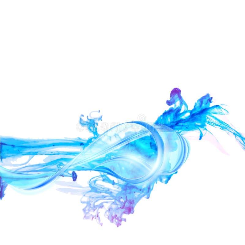 Abstrakcjonistyczny błękitne wody pluśnięcie odizolowywający na białym tle royalty ilustracja