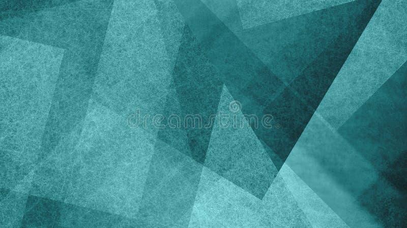Abstrakcjonistyczny błękitnej zieleni, bielu tło z geometrycznym wzorem i Eleganccy textured kształty i kąty w nowożytnym royalty ilustracja