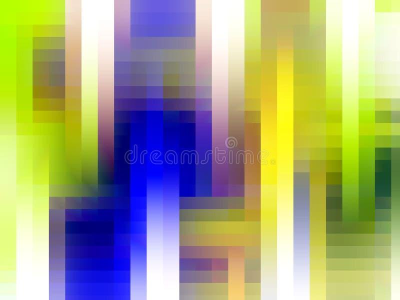 Abstrakcjonistyczny błękitny biały zielonej liny tło, grafika, abstrakcjonistyczny tło i tekstura, royalty ilustracja