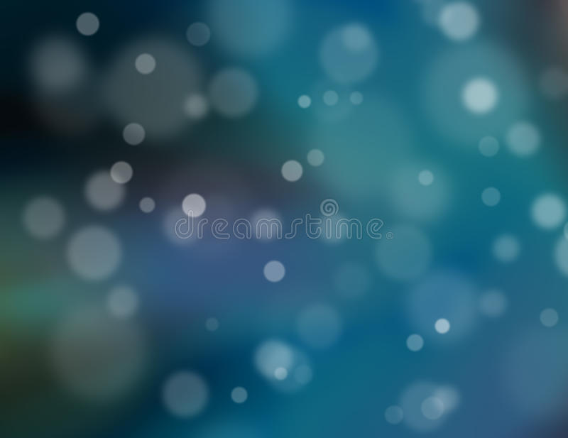 Abstrakcjonistyczny błękitny bokeh tło ilustracja wektor